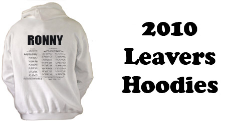 2010 preview of leavers hoodie