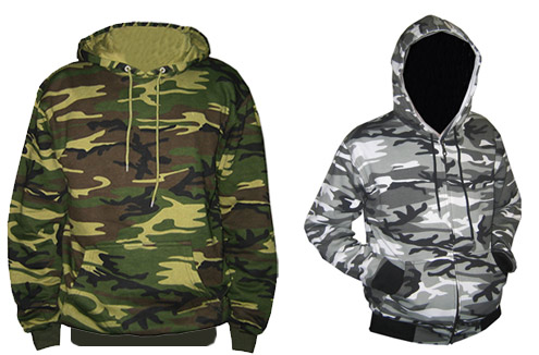 woodland camouflage but also in the urban pattern street as well
