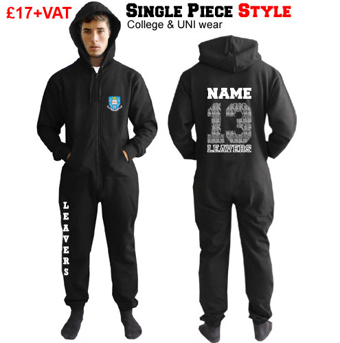 onesie hoodie with leavers 2013 design